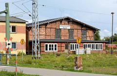Fachwerkarchitektur / historische Industriearchitektur, Bahnbetriebswerk Wismar.