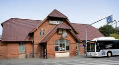 Empfangsgebäude Bahnhof Wismar.