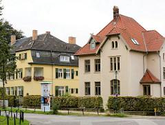 Mehrstöckige Villen, Turmplatz Hansestadt Wismar.