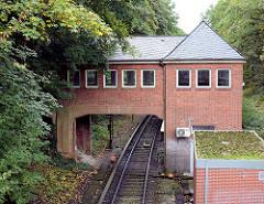 Gleisübergang der U-Bahnhaltestelle Kiekut - Linie U 1, Gemeinde Grosshansdorf.
