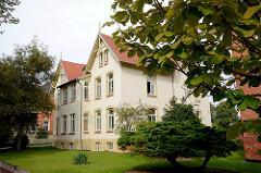 Mehrstöckige Villen - Wohnhäuser, Hansestadt Wismar.
