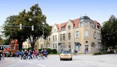 Zweistöckige Wohnhäuser - Architektur Hansestadt Wismar.