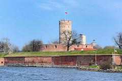Twierda Wisłoujście (Danziger Burg) am Ufer der Toten Weichsel in Danzig / Gdansk - Ursprünge im 15. Jahrhundert; ausgebaut Mitte des 18. Jahrhunderts.