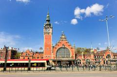 Danzig Hauptbahnhof - Gdańsk Główny; erbaut 1900, Baustil / Architekturstil Neurenaissance.