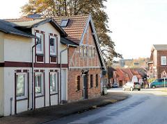Historische Wohnhäuser, Fachwerkhaus - Architekktur in Bad Segeberg.