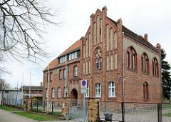Präparandenanstalt in Anklam, erbaut 1906 - es diente bis 1925 als Vorbereitungsstätte von jungen Männern auf den Lehrerberuf - jetzt Musikschule.