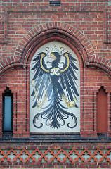 Historisches Wappen von Greifswald - Gerichtsgebäude Landesverfassungsgericht Mecklenburg - Vorpommern.