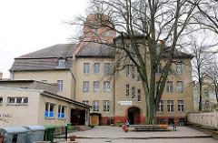 Schulgebäude der Carl Wilhelm Berthold Heberlein Schule, evangelischer Theologe und Chronist. Regionale Schule mit Grundschule in Wolgast.