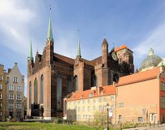 Marienkirche in Danzig - eine der größten Backsteinkirchen der Welt - Platz für 25 000 Menschen - Baubeginn 1345, fertig gestellt 1502