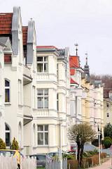 Gründerzeitfassaden - Wohnhäuser Ostseebad Heringsdorf, Insel Usedom.