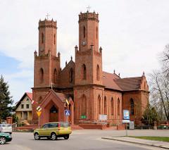 Kirche der Heiligen Katharina von Alexandrien (św. Katarzyna z Aleksandrii) in Krokowa / Krockow, Polen. Erbaut erste Hälfte 19. Jahrhundert.