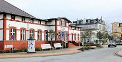 Historisches Gebäude Ostseebad Heringsdorf / Usedom - Warmbad, Seebad Bansin.