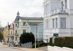 Baustil Bäderarchitektur - Gründerzeitfassaden - Wohnhäuser Ostseebad Heringsdorf, Insel Usedom.