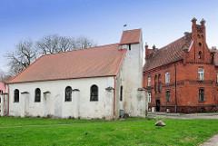 Historische Georgskirche in Darłowo / Rügenwalde, Polen.  Erbaut im 15. Jahrhundert als Hospital für Leprakranke.