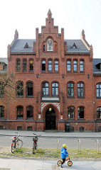 Backsteingebäude des Landesverfassungsgerichts Hansestadt Greifswald.