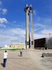 Solidarność-Denkmal am Tor 2 der Danziger Werft - stocznia Gdańsk.