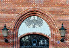Eingang des ehem. Amtsgerichts in Bad Segeberg, Hamburger Strasse - Backsteinarchitektur,