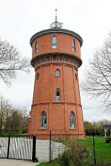 Historischer Wasserturm Anklam - erbaut 1906, in Betrieb bis 1997.