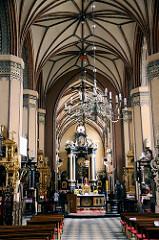 Innenansicht / Innenraum der gotischen Kathedrale Frombork / Frauenburg.