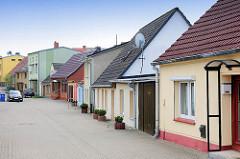 Einzelhäuser mit bunter Fassade - Bilder aus der Hansestadt Wolgast.