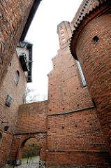 Gotische Backsteinkirche - Frauenburger Dom / Kathedrale Frombork - Backsteinarchitektur, errichtet 1329 - 1388.