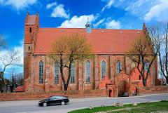 Klosterkirche in Żarnowiec / Zarnowitz, Polen; Ursprünge im 13. Jahrhundert.