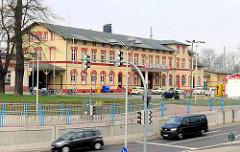 Bahnhofsgebäude - Bahnhof der Hansestadt Greifswald;  eröffnet 1863.