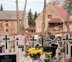 Friedhof von Żarnowiec / Zarnowitz, Polen.