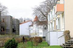 Neubauten an der Strandpromenade Ostseeinsel Usedom, Ostseebad Heringsdorf.