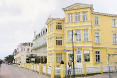 Strandpromenade Ostseebad Heringsdorf - historische Bäderarchitektur - Gründerzeitstil; Haus am Meer.