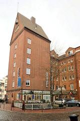 Historische Industriearchitektur - Speichergebäude einer ehm. Getreidemühle in Buxtehude - umgebaut zum Hotel.
