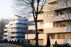 Moderne Betonarchitektur der 1970er Jahre in Buxtehude / Altstadt, Sagekuhle.