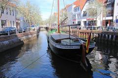 Flethanlage in Buxtehude - künstlich angelegter Wasserlauf; Giek-Ewer Margareta, erbaut 1897.