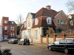 Barockes Wohngebäude in der Rathausstrasse von Uetersen, Kreis Pinneberg.