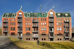 Historischer Speicher - Speichergebäude am ehemaligen Hafengebiet von Hamburg Rothenburgsort.