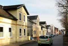 Wohnstrasse in Uetersen - Einzelhäuser im ähnlichen Baustil / Gründerzeitgebäude in der Seminarstrasse.