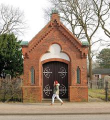 Taharahaus - jüdischer Friedhof Elmshorn, erbaut 1906.