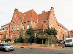 Gebäude Amtsgericht Elmshorn - erbaut 1910 im niederländischen Renaissancestil.