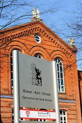 Kaiser Karl Schule in Itzehoe; städtisches Gymnasium, gegründet 1866 als Städtische Evangelische Realschule.