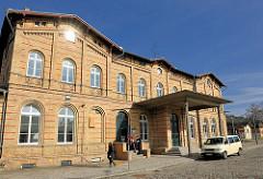 Bahnhofsgebäude der Hansestadt Demmin - erbaut 1877.