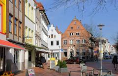 Fussgängerzone in Itzehoe, Breite Strasse / Kirchenstrasse.