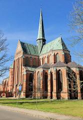 Doberaner Münster - erbaut um 1300; bis Mitte des 16. Jahrhunderts Klosterkirche des Zisterzienser Klosters Doberan - Baustil Gotik, Backsteingotik.