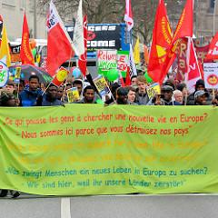 Demonstration für das Bleiberecht der Lampedusa-Flüchtlinge in Hamburg.