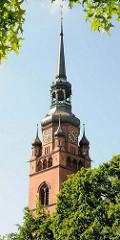 Kirchturm der Stadtkirche St. Laurentii in Itzehoe, errichtet 1778 - Kirchturm 1896 erbaut.