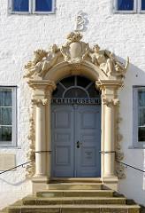 Eingang Prinzesshof in Itzehoe, ehem. Adelspalais - älteste Bauteile aus dem 16. Jahrhundert - Kreismuseum Kreis Steinburg.