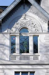 Fassadenschmuck, historische Villa  - Kulturdenkmal, Bilder aus der Stadt Itzehoe.