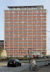 Ehem. Verwaltungsgebäude von Teppich-Kibek in Elmshorn - das Gebäude hat 14 Stockwerke und wurde 1958 erbaut; geplantes Seniorenwohnungen.
