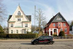 Einzelhäuser, Wohnhäuser am Mühlendamm in Elmshorn.