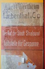 Wandbeschriftung - Der Rat der Stadt Stralsund Leitstelle für Gespanne.