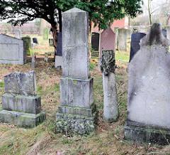 Grabsteine - Jüdischer Friedhof Elmshorn.